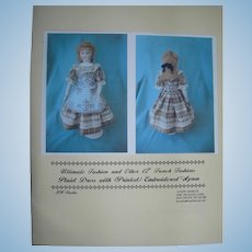 "Ultimate Fashion Kit for Brown Plaid dress & apron for 12"" doll"
