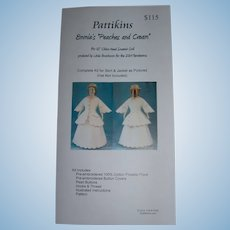 "12"" China Doll Dress kit by Pattikins Pique material"
