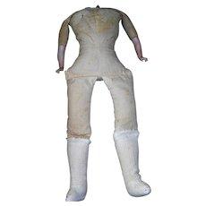 "18"" Vintage Muslin Body porcelain arms for China, parian or Shoulder head dolls."