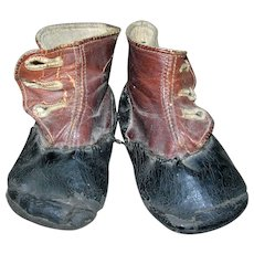 Antique Baby Boots for Dolls
