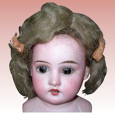Sweet Ash Blond Mohair wig side part with pate