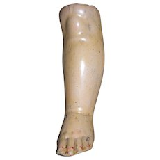 """Composition Leg red lines on toes...OLD 5 1/8"""" tall"""