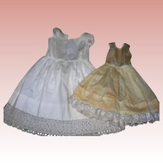 3 Petticoats with attached Bloomers Medium sized dolls