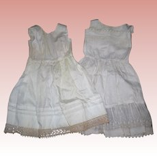 2 Petticoats for Bisque Dolls