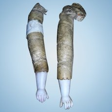 Porcelain Antique Arms for Leather body dolls