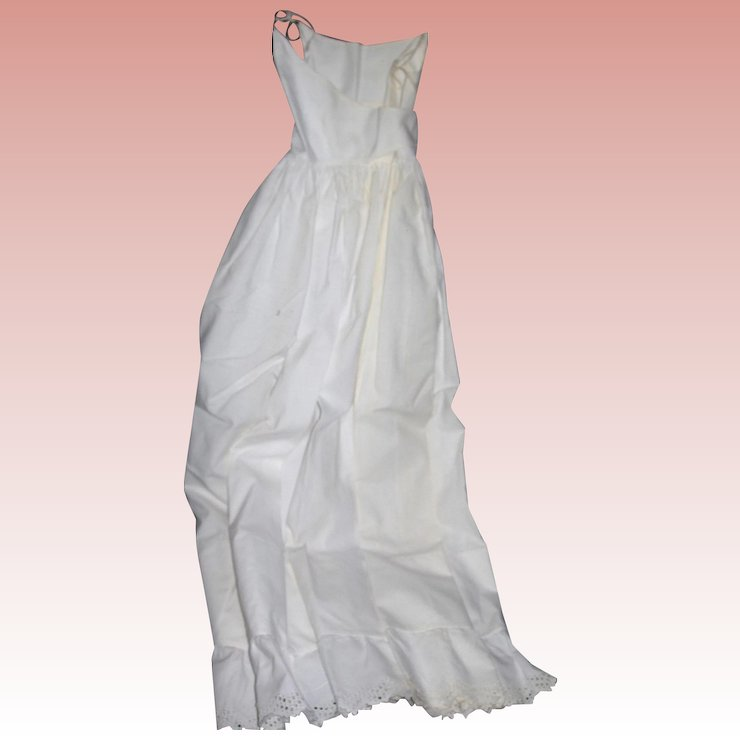 Starched and clean Creamy White Cotton Baby Petticoat scallop eyelet ...