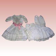 Antique Window Pane insertion Lace tuck work Dress & undies.