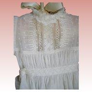 Stupendous Stitchery on Gown & Matching Slip