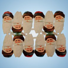 Embossed German Die Cut Santas