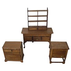 Four Pieces Doll House Furniture from the 80's