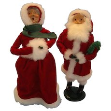 Santa 1986 and Mrs. Clause 1989 Caroler Dolls - Red Tag Sale Item