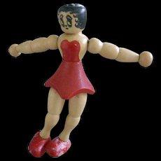 Jaymar Wood  4.5 Inch Betty Boop Doll or Ornament - Red Tag Sale Item