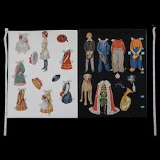 Jackie Coogen and Victorian Girl Paper Dolls - Red Tag Sale Item