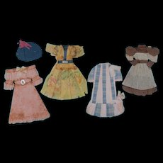 Crepe and Tissue Paper Doll Dresses