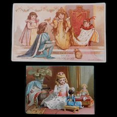Advertising Cards with Dolls