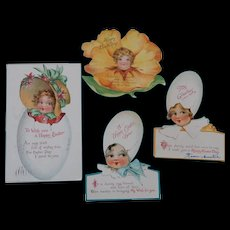 Nister Easter Cards plus a Birthday Greeting