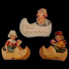 3 Dutch Children Valentines