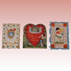 3 Small Vintage Valentines