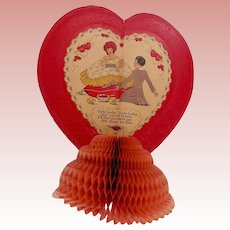 Large Embossed Honeycomb Valentine