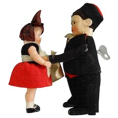 5.5 Inch German Schuco Key-wind Dancing Spinning Couple