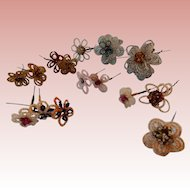15 Pieces of Beaded Flowers