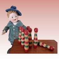 Miniature French Quilles  Pins Game
