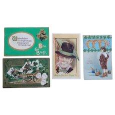4  St. Patrick's Day Postcards