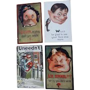 Four Comical Postcards