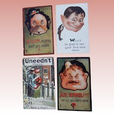 Four Comical Postcards
