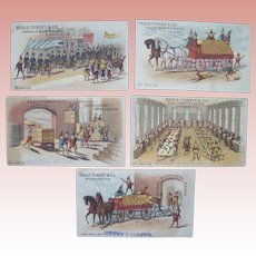Five Advertising Cards with Brownies