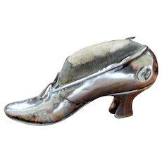 Berry & Co. Sterling Miniature Shoe Pin Cushion