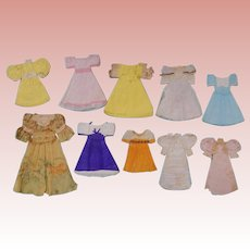 Ten Tissue Paper Dresses for Paper Dolls