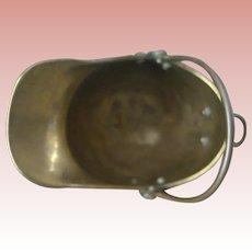 Miniature Brass Coal Scuttle