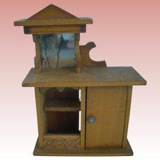 Miniature Oak Victorian Stand