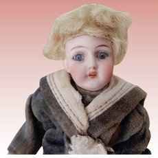 Five Inch Doll House Boy with Glass Eyes