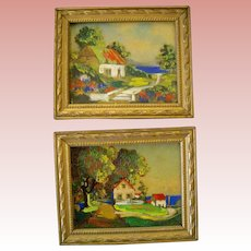 Miniature Oil Paintings for Room or Dollhouse