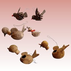 7 Bird Ornaments for Dolly's Christmas Tree