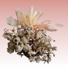 Vintage Velvet Flower Bouquet for French or German Dolls