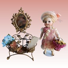 Miniature Gilded Piece for Your All Bisque Dolls