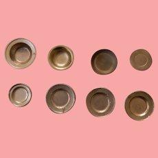 Eight German Dollhouse Plates/Bowls