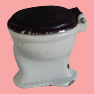 Tootsie Toy  Dollhouse Toilet
