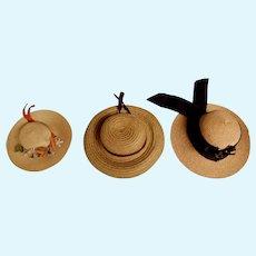 Three Soft Flexible Doll Hats