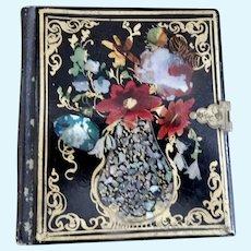 Tin Type Photos in Exquisite Painted Case