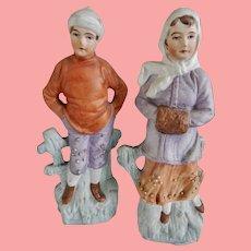 German Unglazed Bisque Figures / Snow Babies