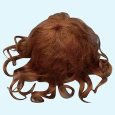 Antique Soft Thick Auburn Medallion Mohair Wig