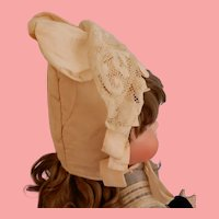 Artist Bonnet with Stand-up Ruffle
