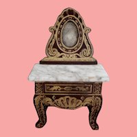 Miniature Boule Dollhouse Vanity or Hall Table