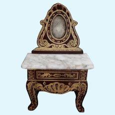 Miniature Boule Dollhouse Vanity or Hall Table