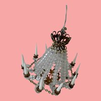 Elegant  Vintage Dollhouse 10 Arm Chandelier