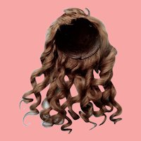 12 Inch Antique Mohair Wig with Golden Highlights